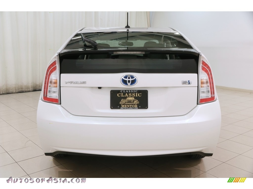 2015 Prius Four Hybrid - Blizzard Pearl / Bisque photo #22