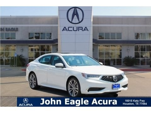 Platinum White Pearl 2019 Acura TLX V6 Sedan