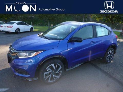 Aegean Blue Metallic 2019 Honda HR-V Sport AWD