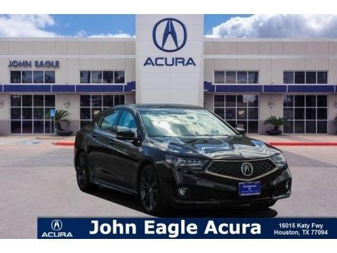 Crystal Black Pearl 2019 Acura TLX V6 A-Spec Sedan
