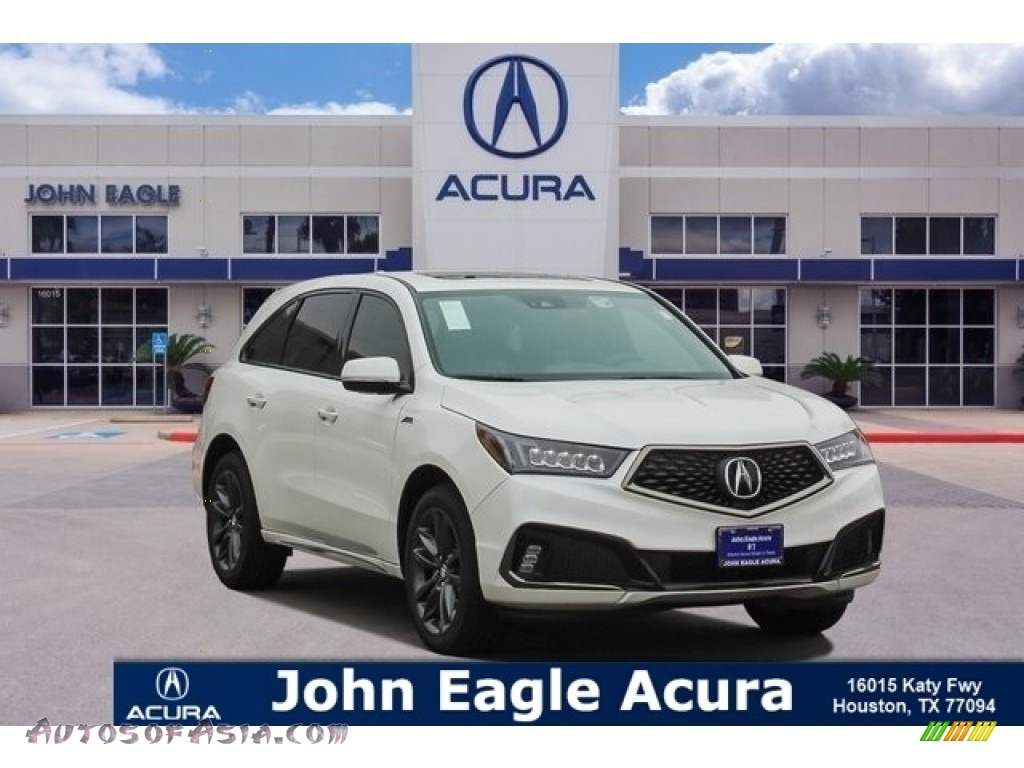 2019 MDX A Spec SH-AWD - White Diamond Pearl / Red photo #1