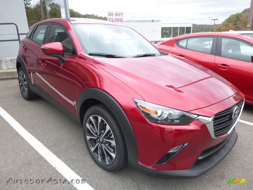 2019 CX-3 Touring AWD - Soul Red Metallic / Black photo #4