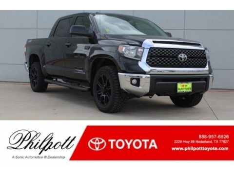 Midnight Black Metallic 2019 Toyota Tundra TSS Off Road CrewMax