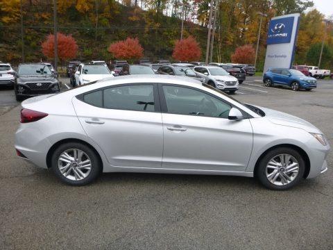 Silver 2019 Hyundai Elantra SEL
