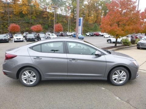 Gray 2019 Hyundai Elantra SEL
