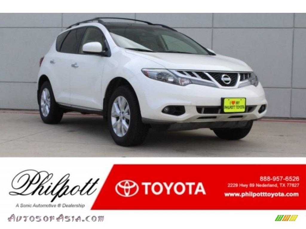 2013 Murano SL - Pearl White / Beige photo #1
