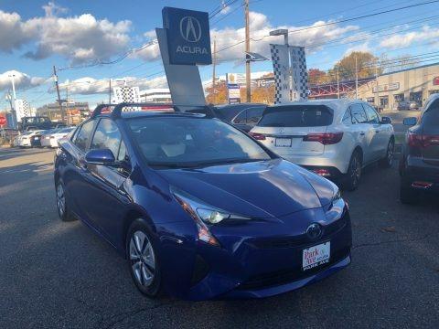 Blue Crush Metallic 2017 Toyota Prius Three