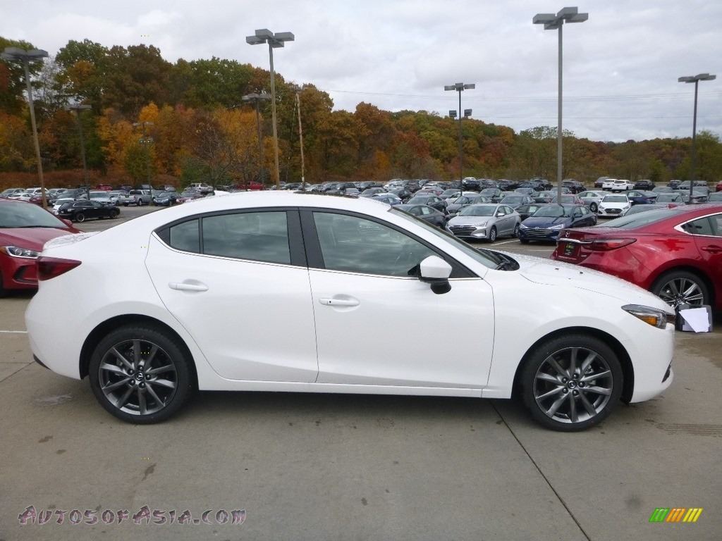2018 MAZDA3 Grand Touring 4 Door - Snowflake White Pearl Mica / Black photo #1