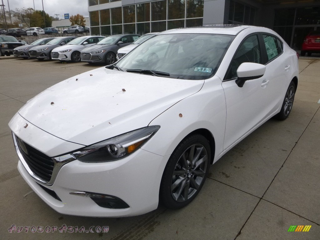 2018 MAZDA3 Grand Touring 4 Door - Snowflake White Pearl Mica / Black photo #5
