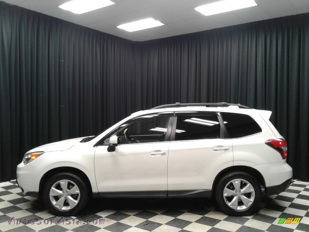 2016 Forester 2.5i Limited - Crystal White Pearl / Gray photo #1