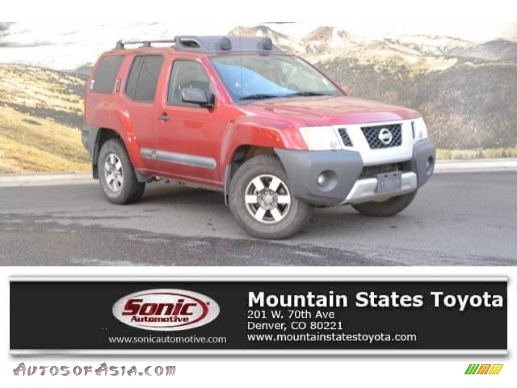 2011 Xterra Pro-4X 4x4 - Lava Red / Pro 4X Gray/Red photo #1