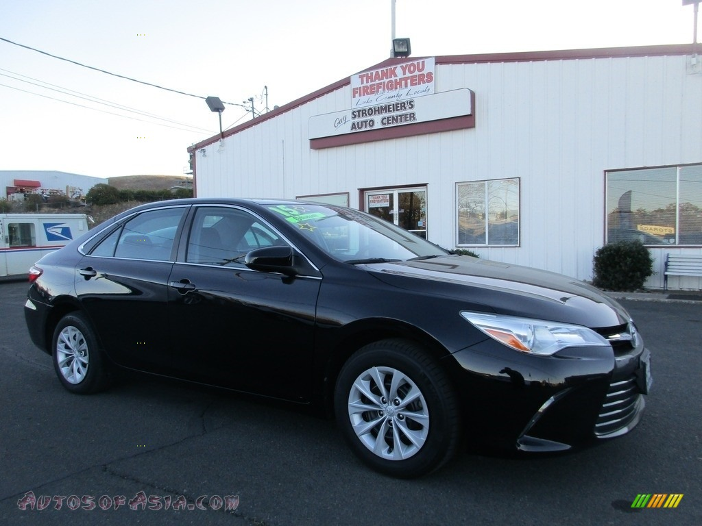 2015 Camry LE - Attitude Black Metallic / Black photo #1