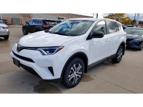 Super White 2018 Toyota RAV4 LE