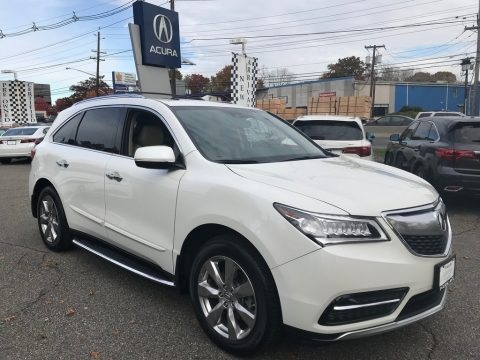 White Diamond Pearl 2014 Acura MDX SH-AWD Technology
