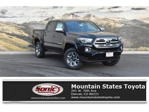 Midnight Black Metallic 2019 Toyota Tacoma Limited Double Cab 4x4