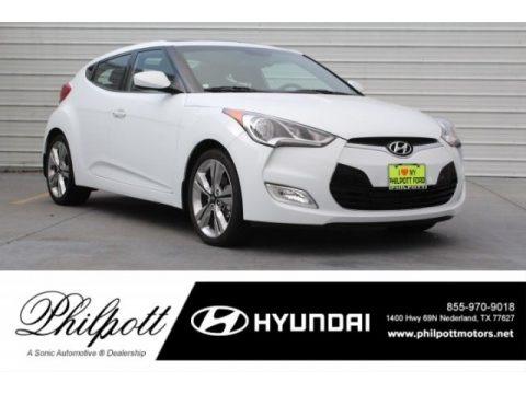 Century White 2017 Hyundai Veloster Value Edition