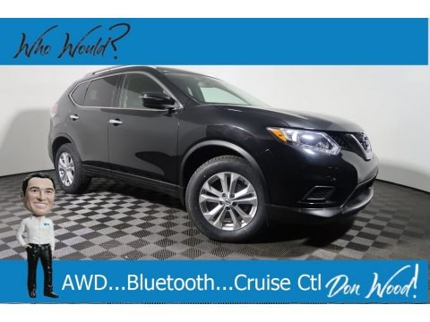 Magnetic Black 2016 Nissan Rogue SV AWD