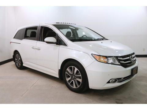 White Diamond Pearl 2014 Honda Odyssey Touring Elite