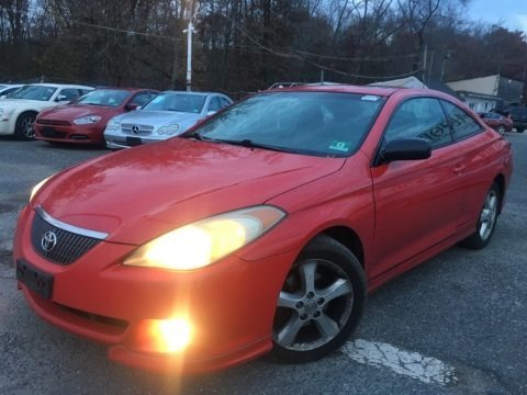 Absolutely Red 2004 Toyota Solara SE V6 Coupe
