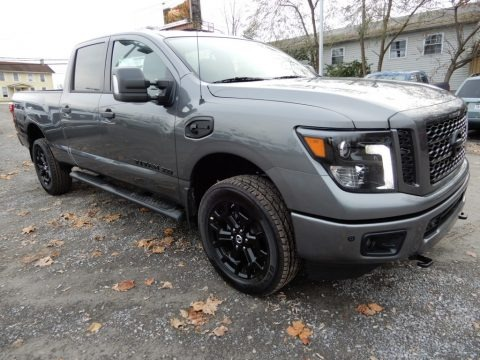 Gun Metallic 2019 Nissan TITAN XD Midnight Edition Crew Cab 4x4