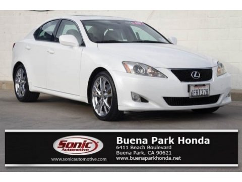 Starfire White Pearl 2008 Lexus IS 250