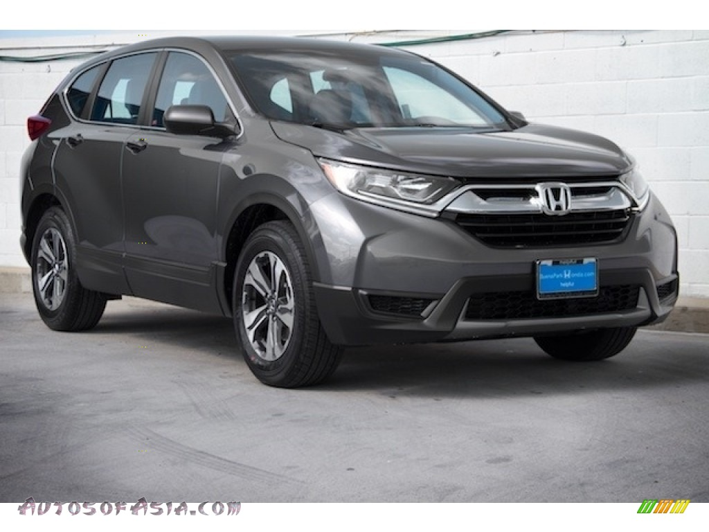 2018 CR-V LX - Modern Steel Metallic / Black photo #1