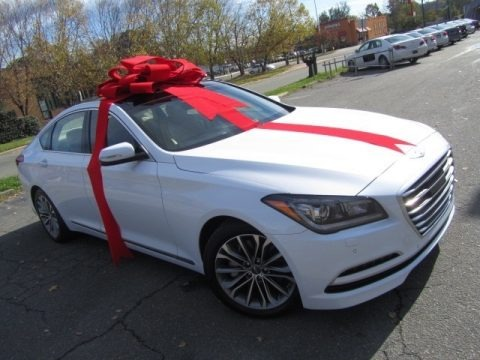 Casablanca White 2015 Hyundai Genesis 3.8 Sedan
