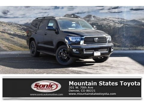 Midnight Black Metallic 2019 Toyota Sequoia TRD Sport 4x4