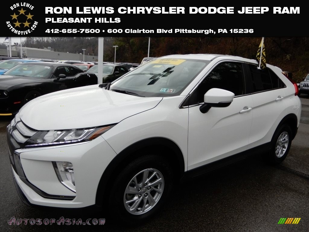 2018 Eclipse Cross ES S-AWC - Diamond White Pearl / Black photo #1