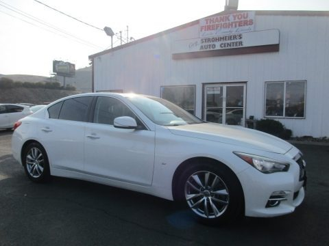 Moonlight White 2014 Infiniti Q 50 3.7 Premium