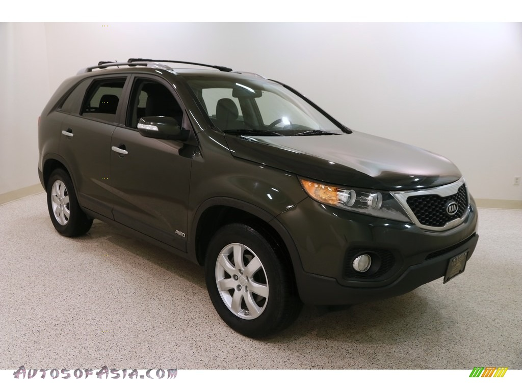 2011 Sorento LX AWD - Tuscan Olive / Black photo #1