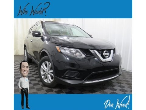 Super Black 2015 Nissan Rogue SV AWD