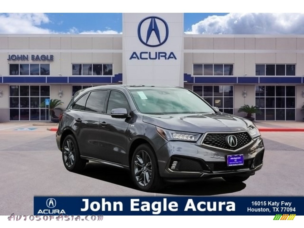 Gunmetal Metallic / Red Acura MDX A Spec SH-AWD