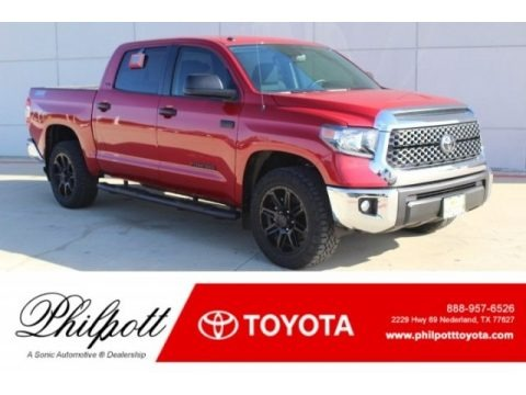 Barcelona Red Metallic 2019 Toyota Tundra TSS Off Road CrewMax