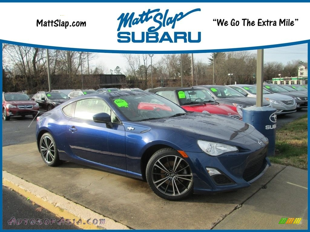2013 FR-S Sport Coupe - Ultramarine Blue / Black/Red Accents photo #1