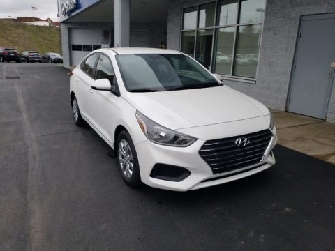 Frost White Pearl 2019 Hyundai Accent SE