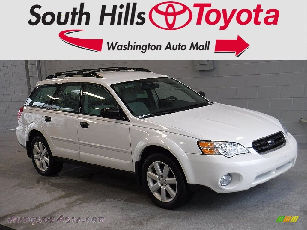 2006 Outback 2.5i Wagon - Satin White Pearl / Taupe photo #1