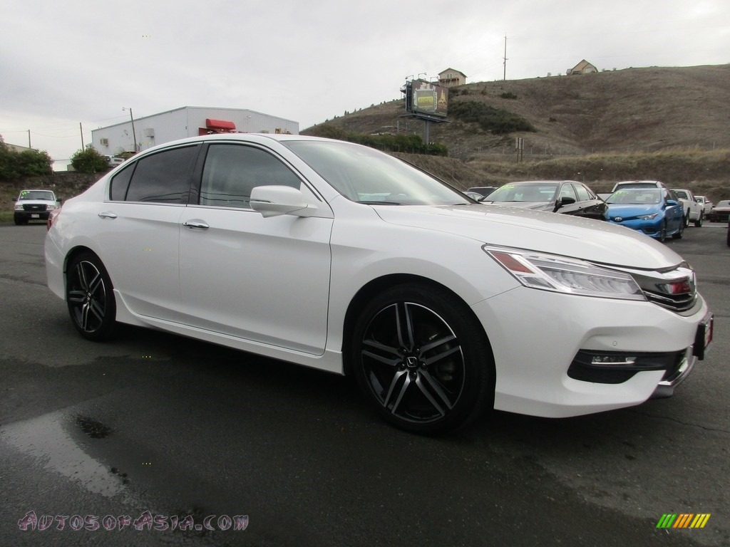 White Orchid Pearl / Ivory Honda Accord Touring Sedan