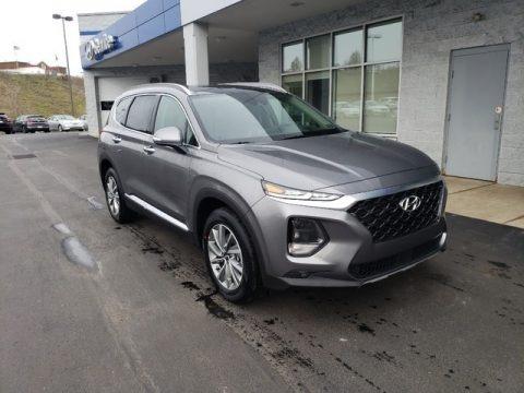 Machine Gray 2019 Hyundai Santa Fe Ultimate AWD