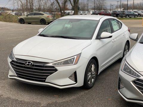 Quartz White Pearl 2019 Hyundai Elantra SE