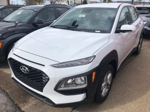 Chalk White 2019 Hyundai Kona SEL