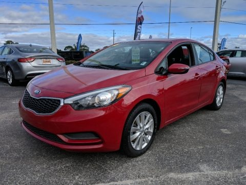 Crimson Red 2014 Kia Forte LX