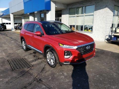 Scarlet Red 2019 Hyundai Santa Fe Ultimate AWD