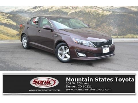 Dark Cherry 2015 Kia Optima LX