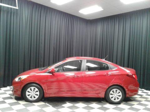 Boston Red 2016 Hyundai Accent SE Sedan