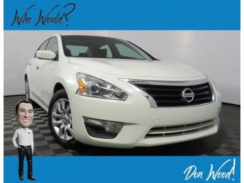 Pearl White 2015 Nissan Altima 2.5 SL