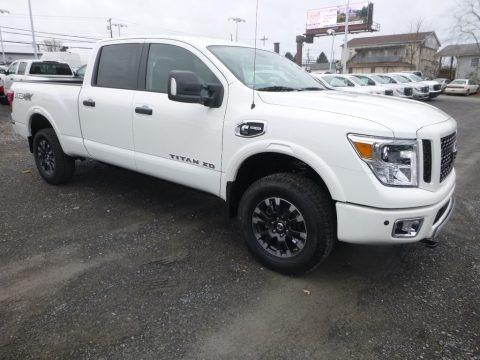 Pearl White 2019 Nissan TITAN XD PRO-4X Crew Cab 4x4