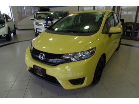 Mystic Yellow Pearl 2015 Honda Fit LX