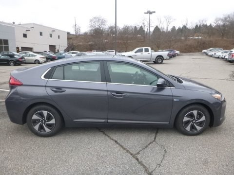 Summit Gray 2019 Hyundai Ioniq Hybrid SEL
