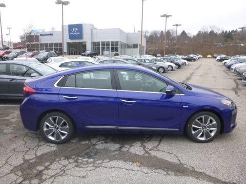 Intense Blue 2019 Hyundai Ioniq Hybrid Limited